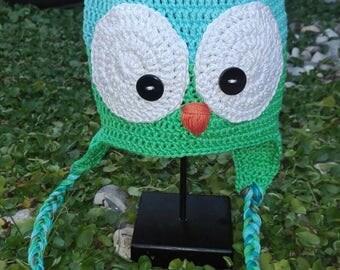 crochet owl Hat hats crochet OWL.