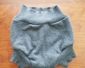 Medium (6-18 months) Wool Diaper Cover with Extra Soaker Layer