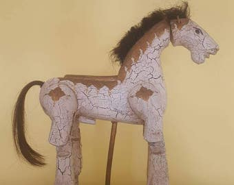 Vintage mounted horse puppet