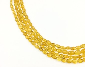"Heliodor Faceted Flat Oval Beads 16""  (Multiple sizes)"