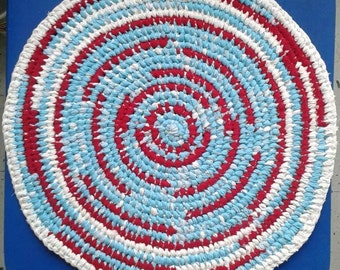 Red And Turquoise Rug Etsy
