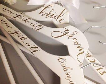 Bridal party hangers x 5
