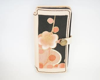 iphone mobile case  Leather and kimono