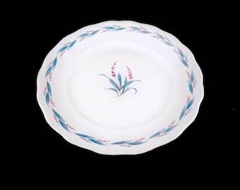"Favolina Vtg Poland China Dinner Plate Platinum Trim Celina Pattern 10"" Diameter"