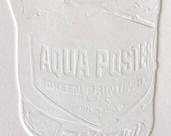 Aqua Poster Blind Embossment