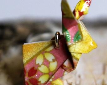 "Origami Hasen Ohrringe ""Usagi "" gelb Echtsilber"