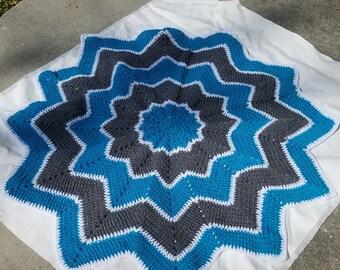 crochet star blanket