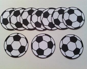 Die Cut Black & White FOOTBALLS