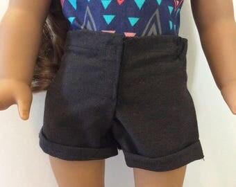 SALE-Black denim shorts