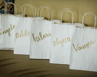 Custom Handwritten Calligraphy Gift Bags