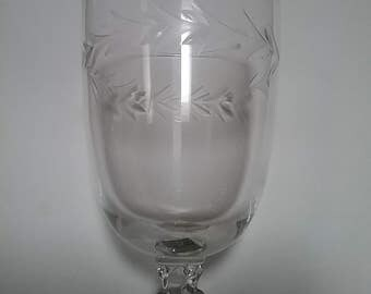 Fostoria Water Goblet Holly Clear Pattern