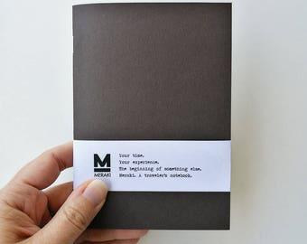 Fruit Caffè | Handmade paper Notebook, travelers planner, Journal, diary,Bullet Journal refill for Fauxdori Midori Traveler's A6 size