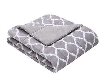 "40""x70"" Adult Weighted Blanket- Grey Weighted Blanket for Adult, Teen, Anxiety, PTSD, Insomnia, Autism, Aspergers,"