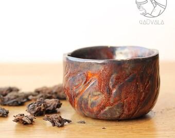Tea bowl for Tea ceremony Whirlwind handmade 80 ml
