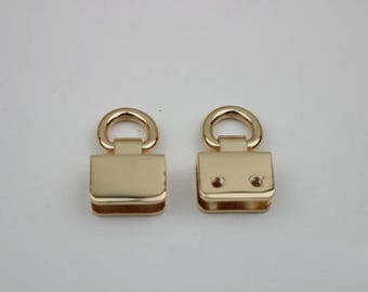 4pcs gold bag Handbag purse strap handles Connector chain Connector Screw Connector D ring O ring 30*20mm