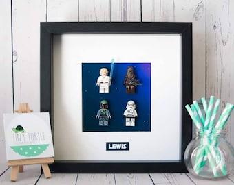 Star Wars frame, lego star wars, birthday gift, boys bedroom, personalised frame