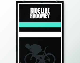 """Cycling Print """"2016 Tour De France Iconic moment Chris Froome"""""""