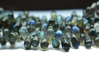 AAA quality Natural LABRADORITE Tear drops Shape smooth /6-8 mm approx