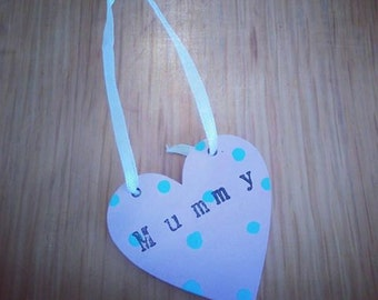 Mini Wooden Hearts