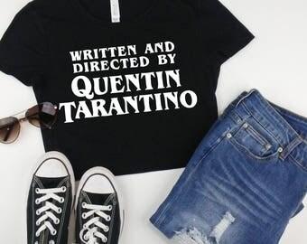 TARANTINO FILM FAN - Quentin Tarantino crop top, written and directed, horror movie t-shirt, Kill Bill, Dusk Til Dawn, tumblr trending