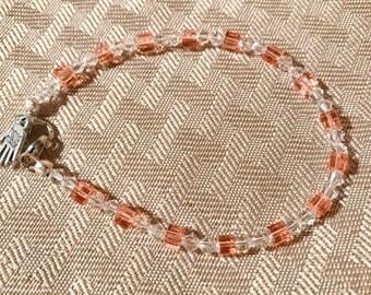 Peach Swarovski crystal bracelet