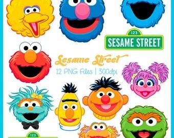 Sesame street clipart – Etsy
