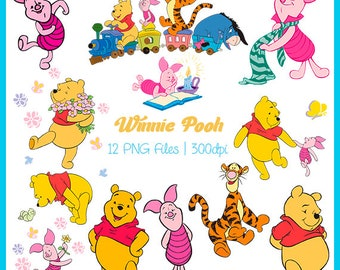 Winnie Pooh Clipart, Winnie Pooh Images, Winnie Pooh  PNG, Winnie Pooh Supplies, Downloadable, DSC-013