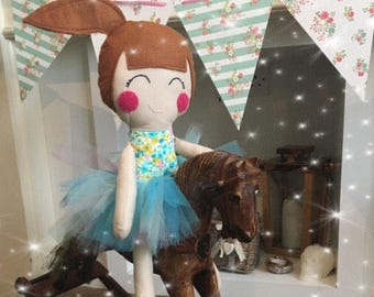 Ragdoll handmade CE marked ragdoll wearing tulle skirt ready to ship girls gift