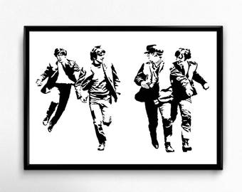 The Beatles Art Print - Super Detailed Giclee Print of the Legendary British Rock Group - Multiple Sizes and Colors