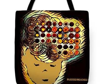 Curly cute tote bag