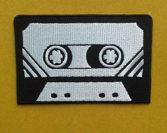 The Retro Cassette tape iron on patch.