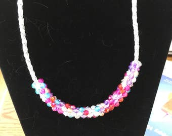 Kumihimo Braided Necklace with Beads