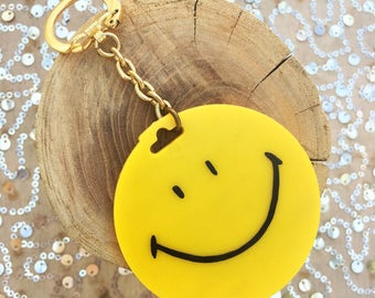Vintage Smiley Face Key Chain :)