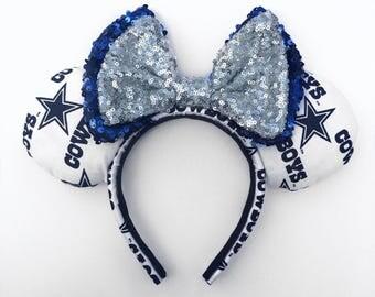 Dallas Cowboy inspired ears , Dallas Cowboys , Football ears , Football , handmade ears