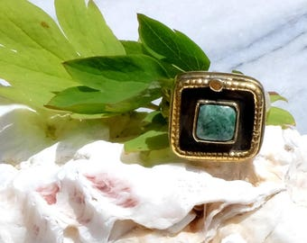 Guatemala - sparkle Maya jade ring