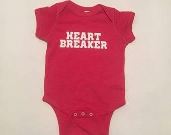 Heart Breaker Onesie Red