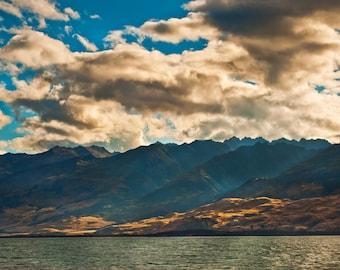 Landscape Photography Prints, New Zealand Mountains, Boundary Glow