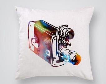 Camera Pillow Cover Throw Pillow Home Decor