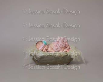 Digital background Newborn Composing basket, peel, fur, instant download