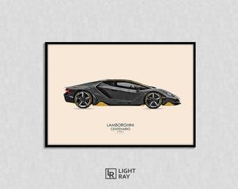 Exlusive Print illustration. SportCar Lamborghini Centenario LP 770-4