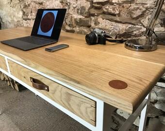 The Hub Office desk. Oak,  steel handmade