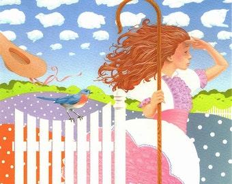 Bo Peep Nursery Rhyme Art Print