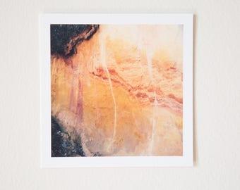 Roussillon Marble Pigment, Provence, France, Square Print