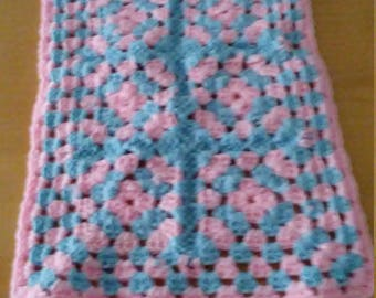 Light blue and pink placemat