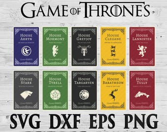Game of thrones SVG Files Silhouettes DXF Files Cutting files Cricut Silhouette