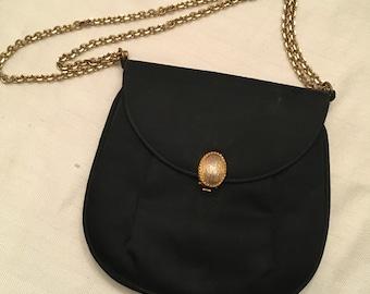 Prestige Black Satin Evening Bag