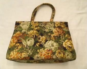 Yellow Floral Vintage Margaret Smith Bag