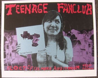 Teenage Fanclub silkscreen gigposter