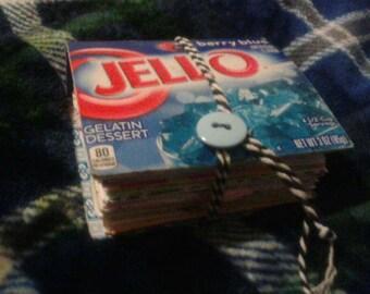 Mini hand made jello box journal