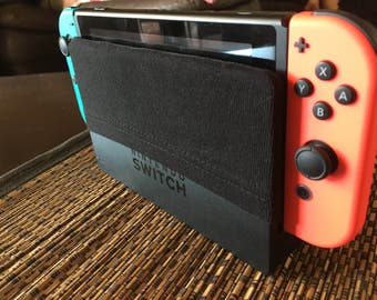 Nintendo Switch Dock Cover (black stretch)